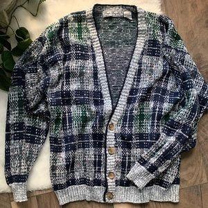 Vintage 80's 90's Bugle boy Cardigan Sweater SZL